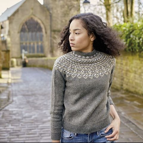 Fair Isle jumper knitting pattern