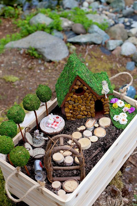 fairy garden ideas house