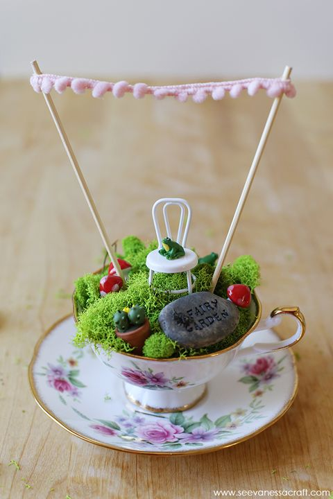 fairy garden ideas teacup