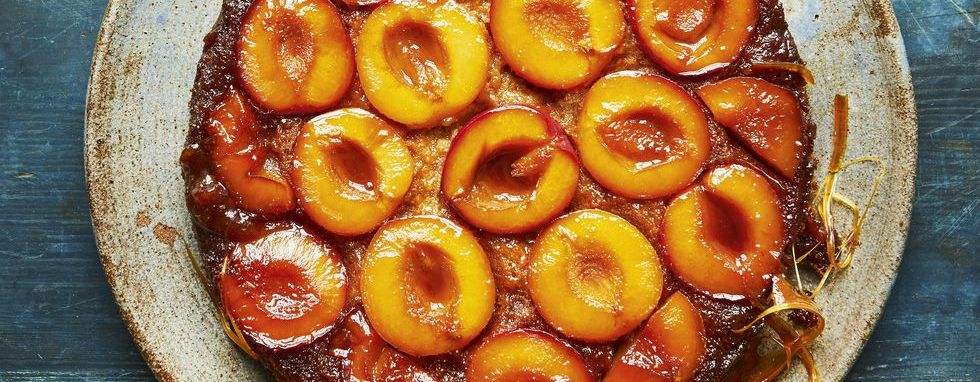 meghan markle cookbook plum upside-down cake