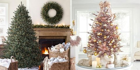 15 best artificial christmas trees 2018 best fake christmas trees - Decorated Artificial Christmas Trees