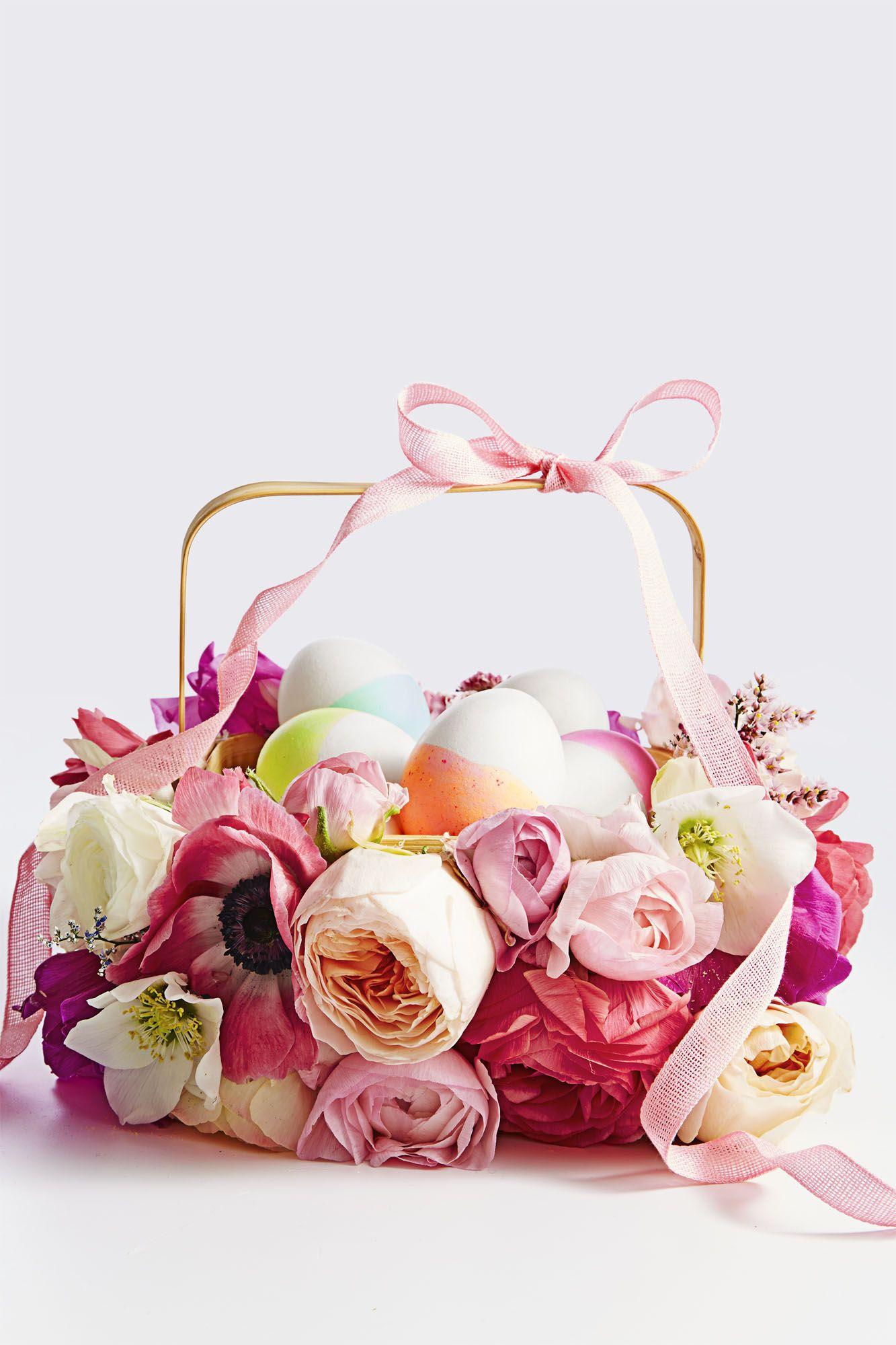 Fake Flower Basket - Easter Basket Ideas