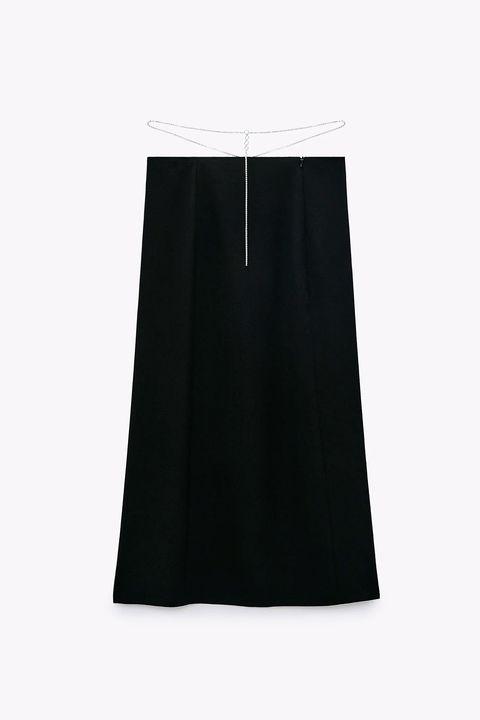 faldas mini, midi y largas de fiesta de zara para un look de casa