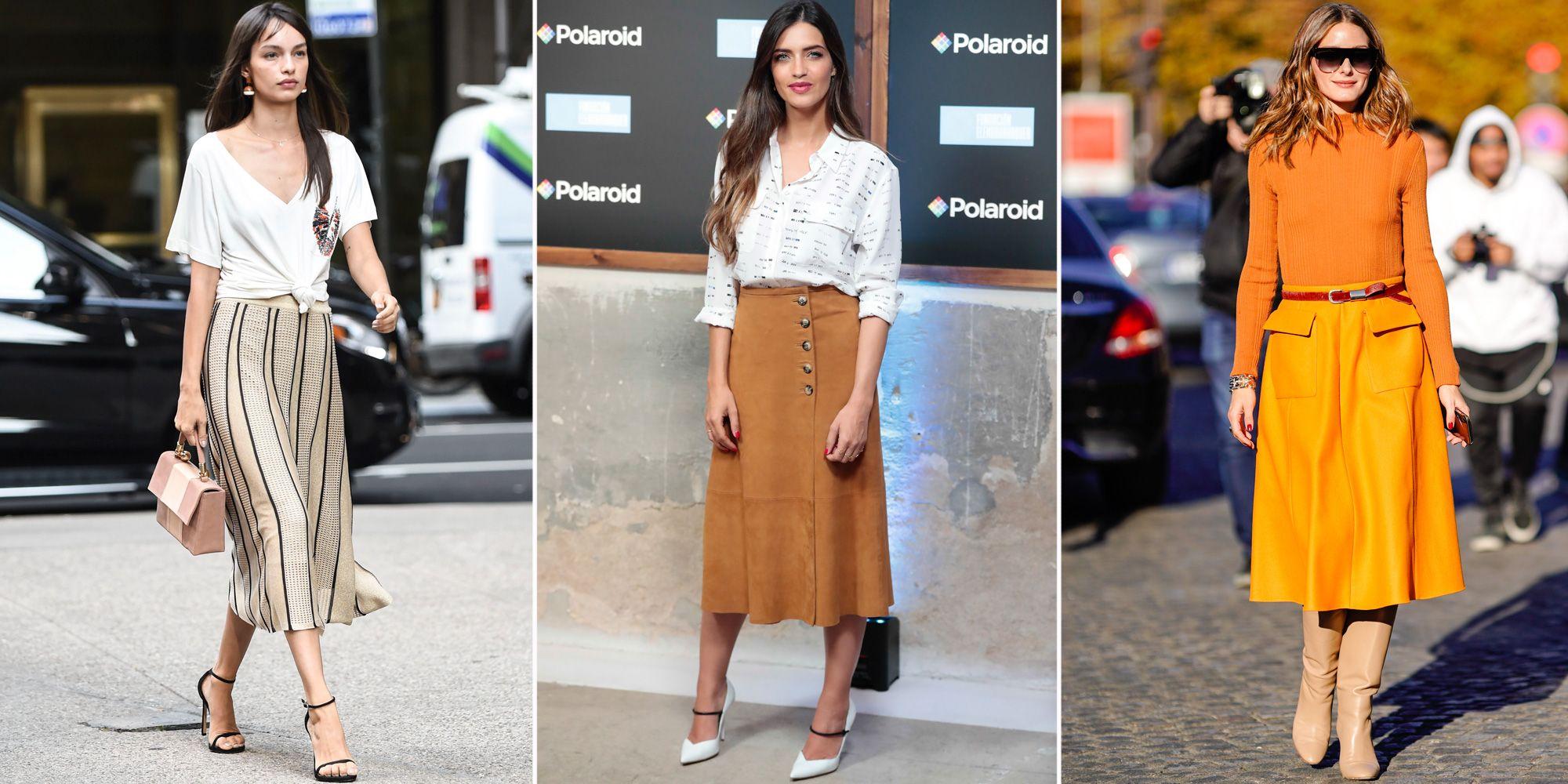 75ba04c37 La falda midi inspira los mejores looks 'working' de las famosas ...