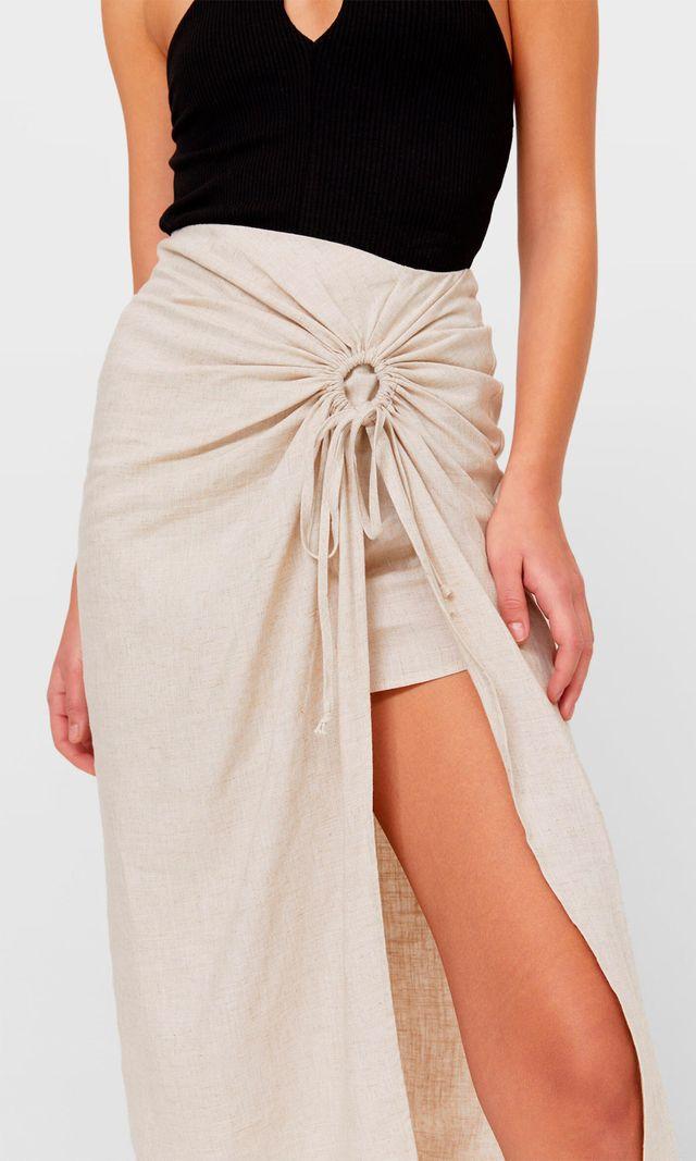 falda mini midi de stradivarius