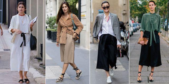 looks de calle con falda pantalón
