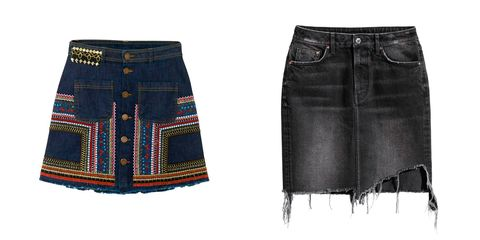 70efd3c4ea Faldas vaqueras para dar un descanso a tus  jeans  - Compras  la ...
