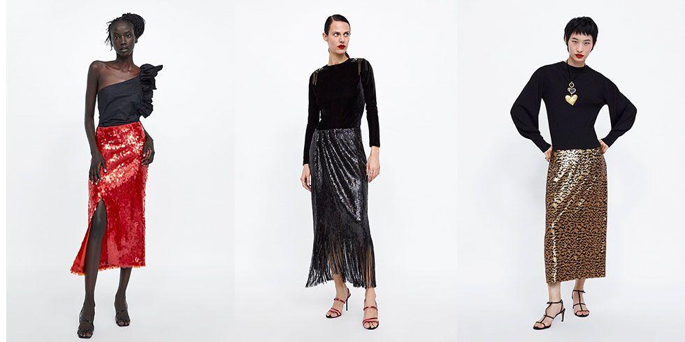 ed0d5e5e44 Zara tiene claro lo que llevarás en tu próxima fiesta  una falda midi de  lentejuelas