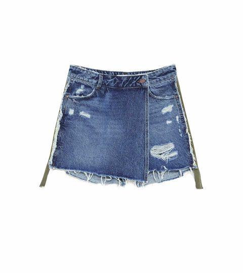 Falda mini, de Zara