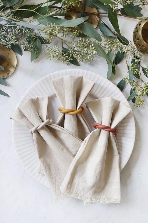 diy clay napkin rings