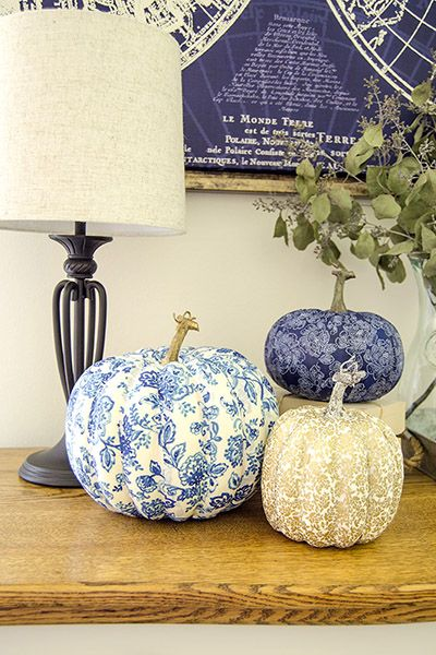 Fabric-Covered Pumpkins