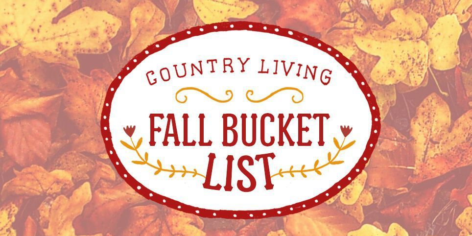 fall activities - fall bucket list