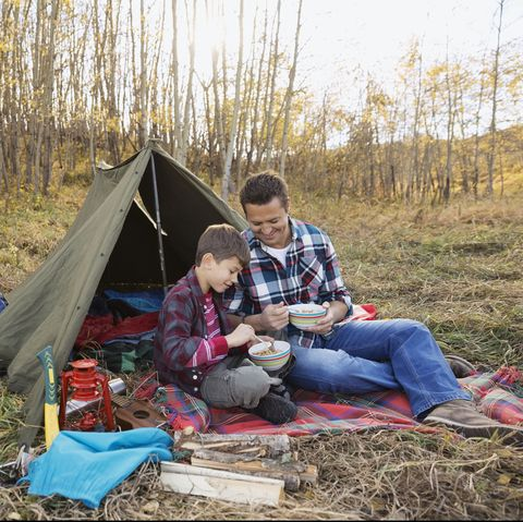 fall activities for families - camping