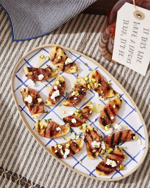 grilled apples with prosciutto and honey