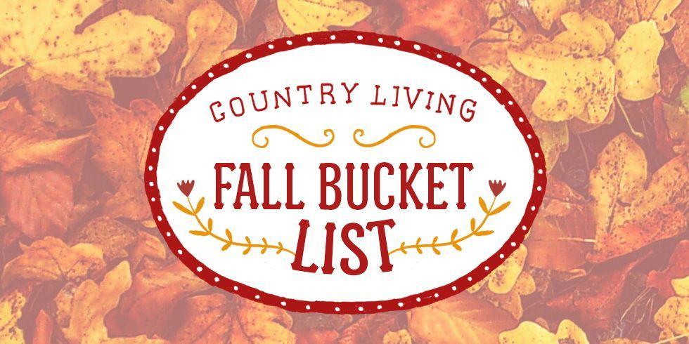 fall bucket list - fall activities