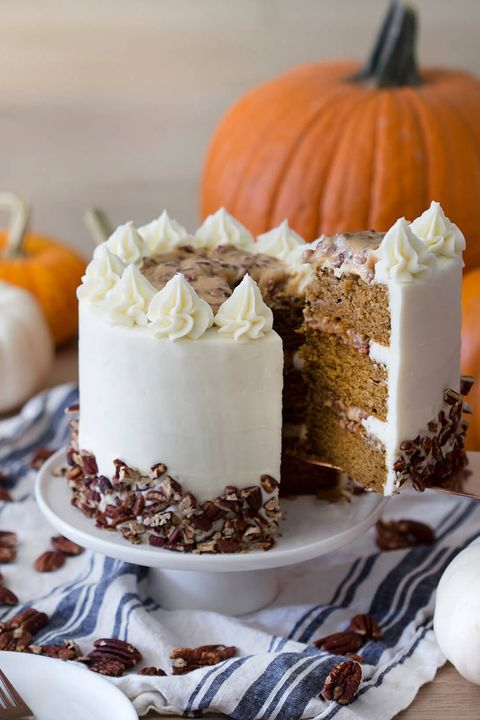 fall cakes pumpkin pecan