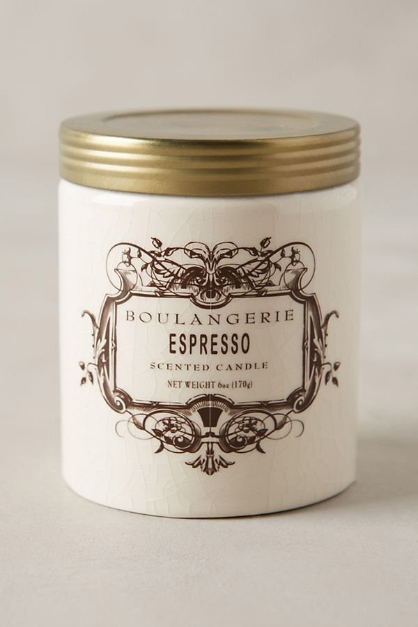 boulangerie jar espresso candle