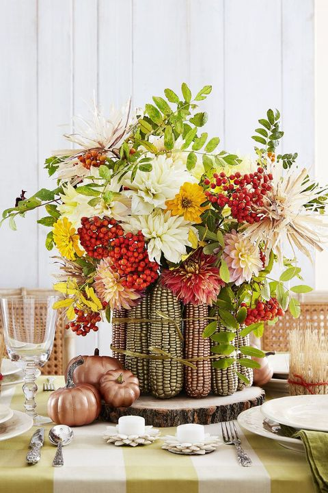 Thanksgiving Centerpieces - Thanksgiving Maize Centerpiece