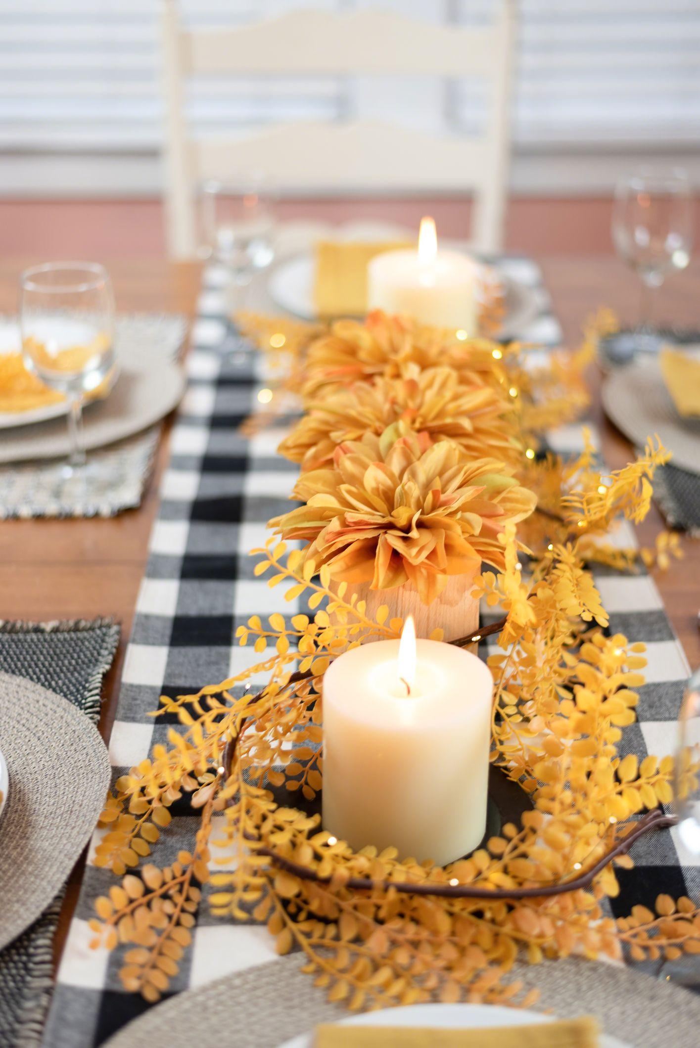 20 DIY Fall Centerpieces   Cute Fall Table Centerpieces