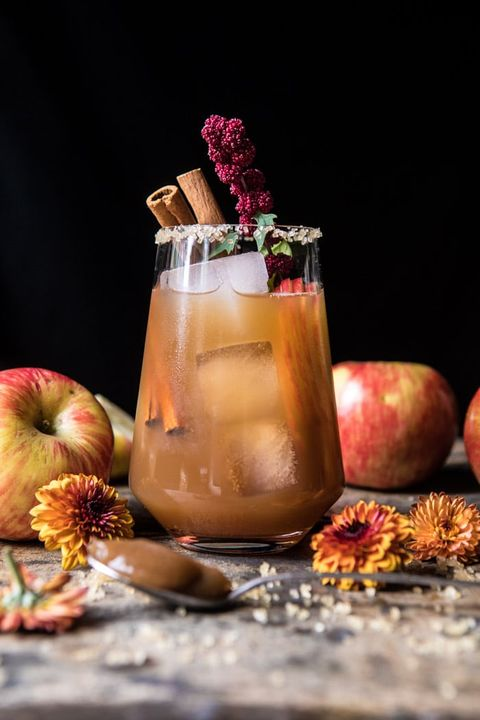 fall cocktails apple butter old fashioned