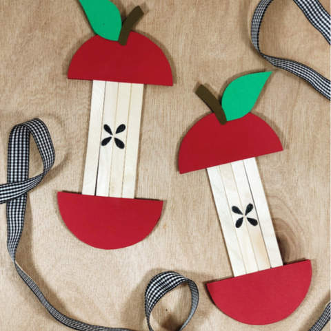 apple core craft fall craft for kids