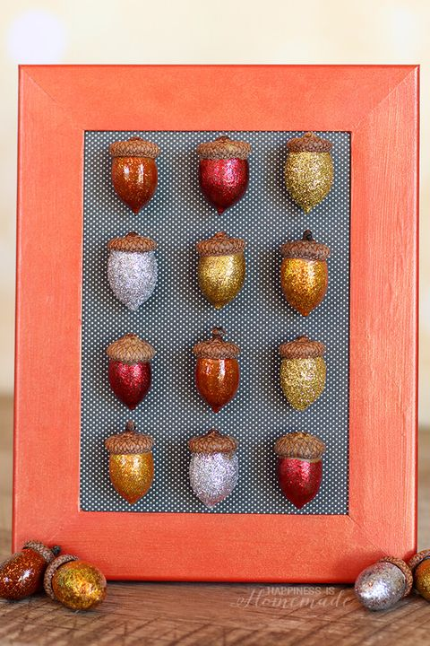 fall crafts acorn art