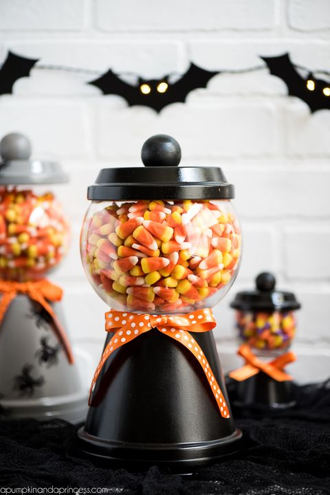 fall crafts candy jar