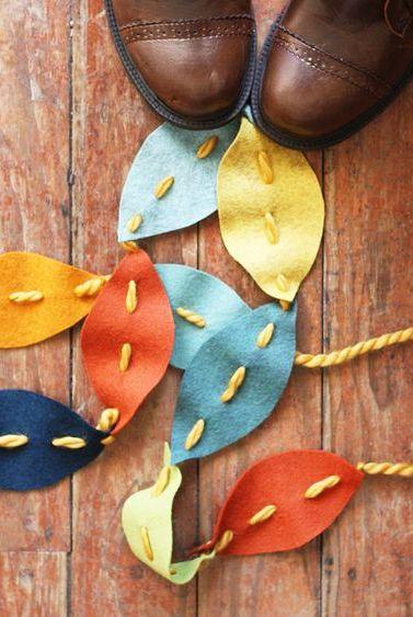 fall crafts for kids leaf garland