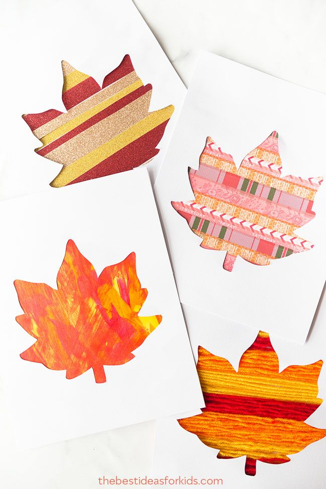 fall crafts for kids leaves