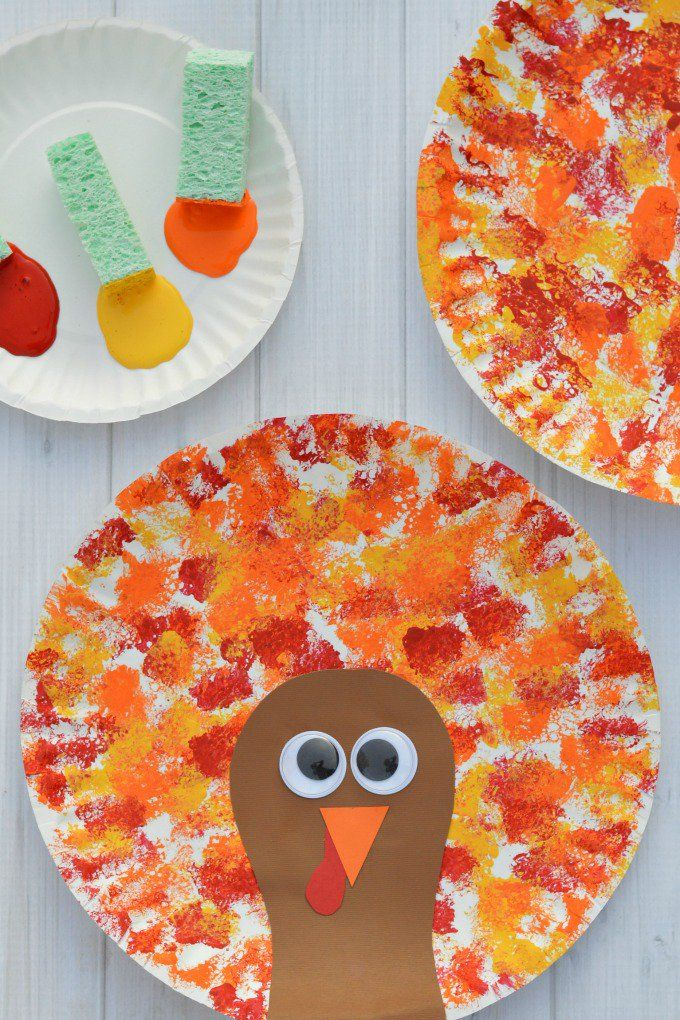 fall crafts for kids turkey