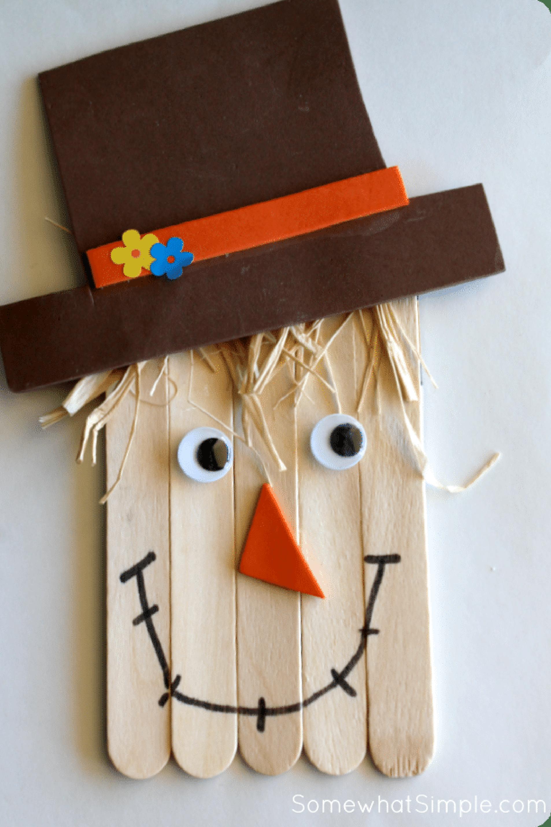 fall crafts kids scarecrow