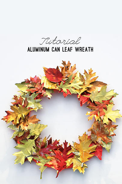 fall crafts leaf wreath
