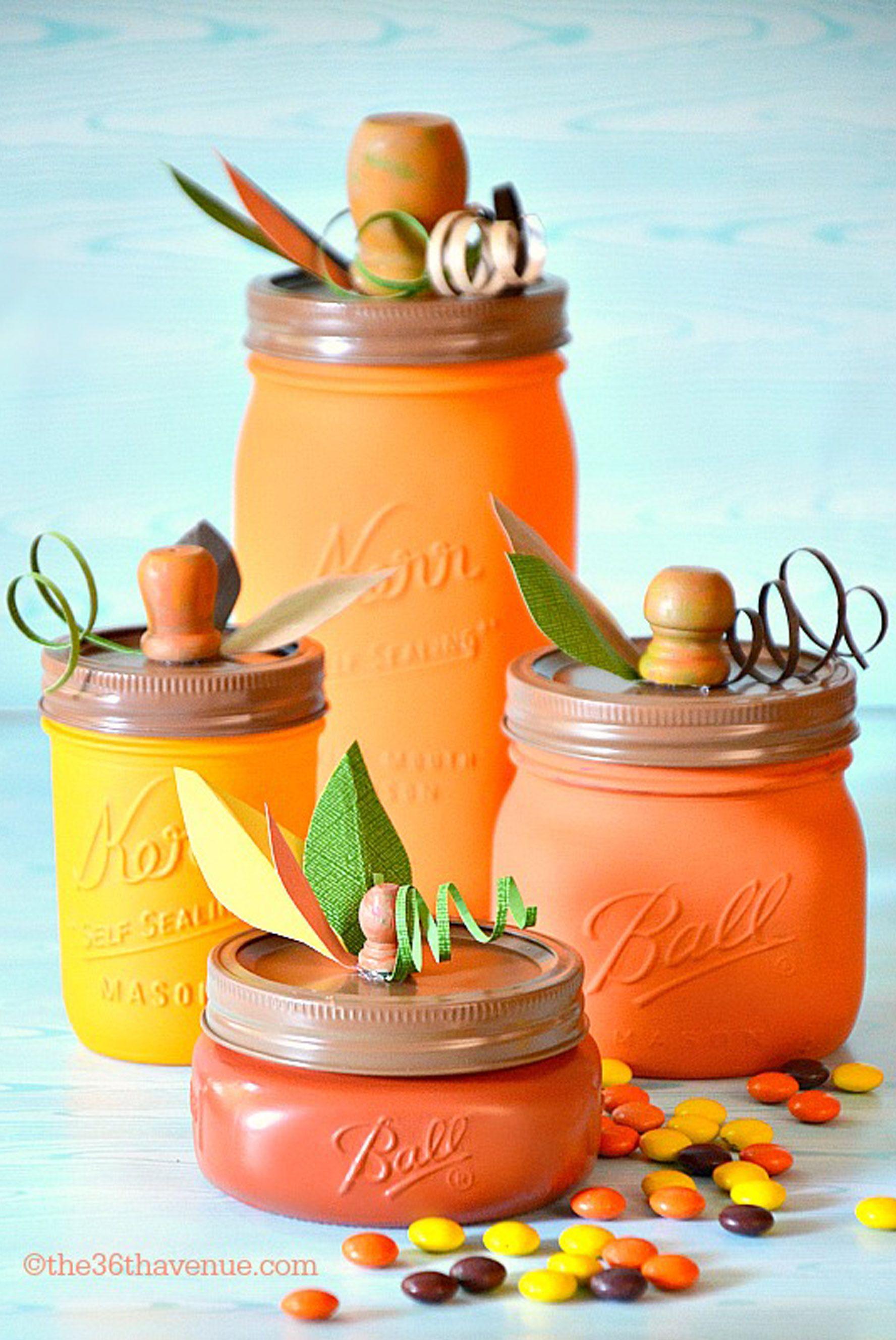 fall crafts mason jars