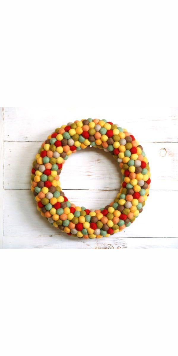 beautiful Fall Crafts For Seniors Part - 10: fall crafts pom pom wreath