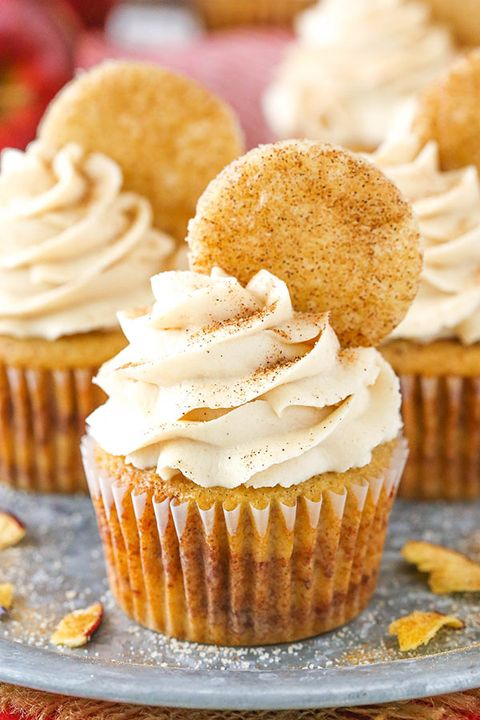 fall cupcakes apple snickerdoodle