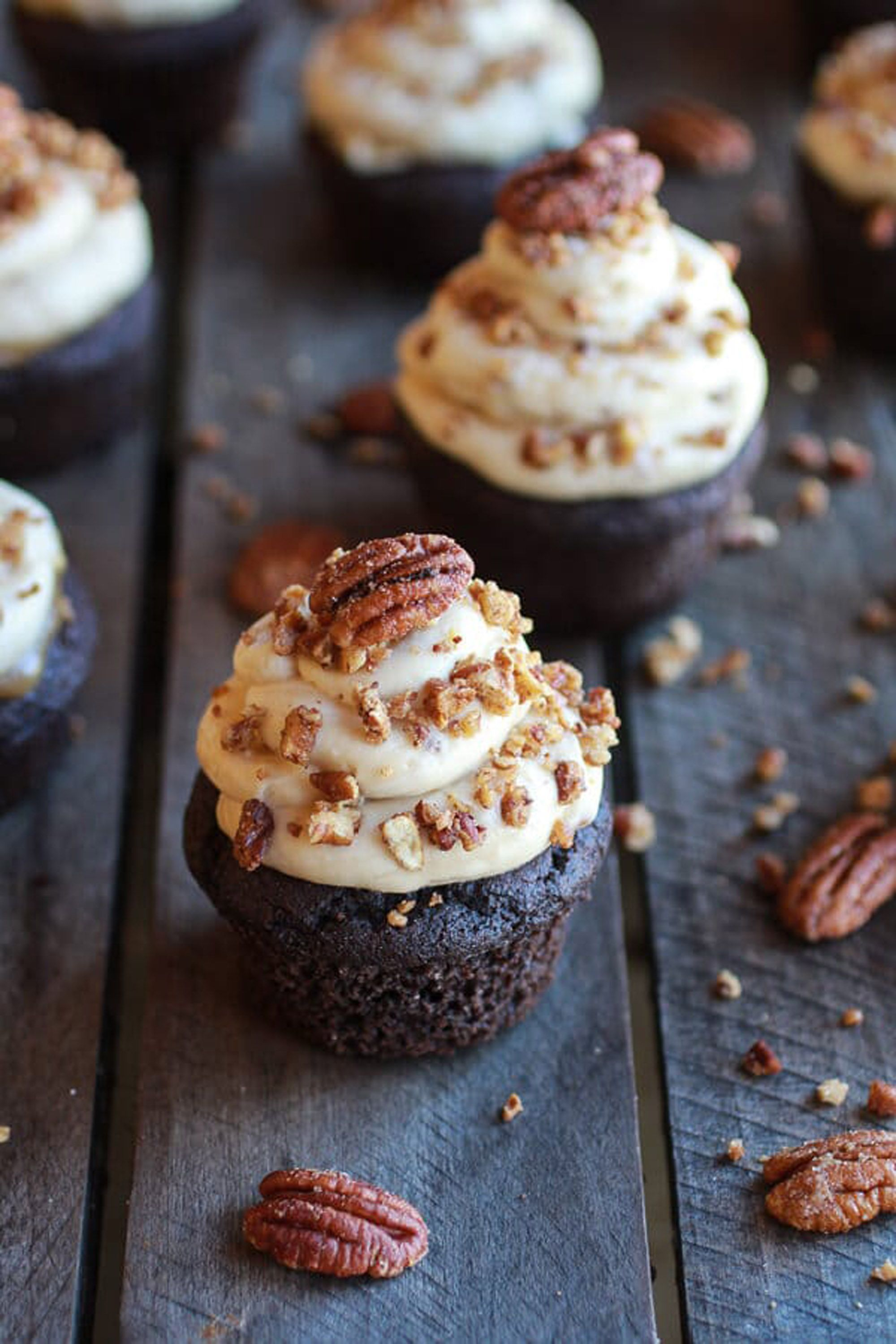 fall cupcakes chocolate bourbon