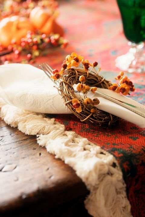 fall decorations berry napkin rings