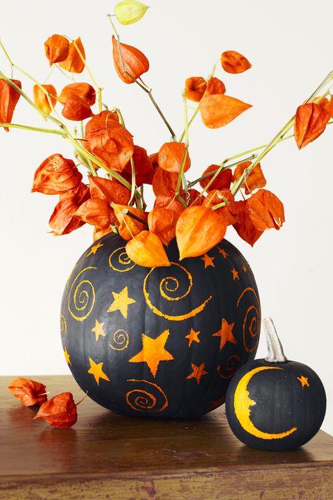 fall decorations painted pumpkin