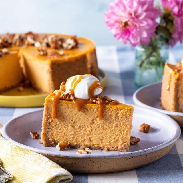 fall desserts pumpkin cheesecake