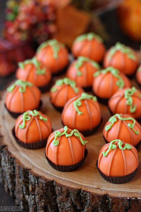 fall desserts pumpkin truffles