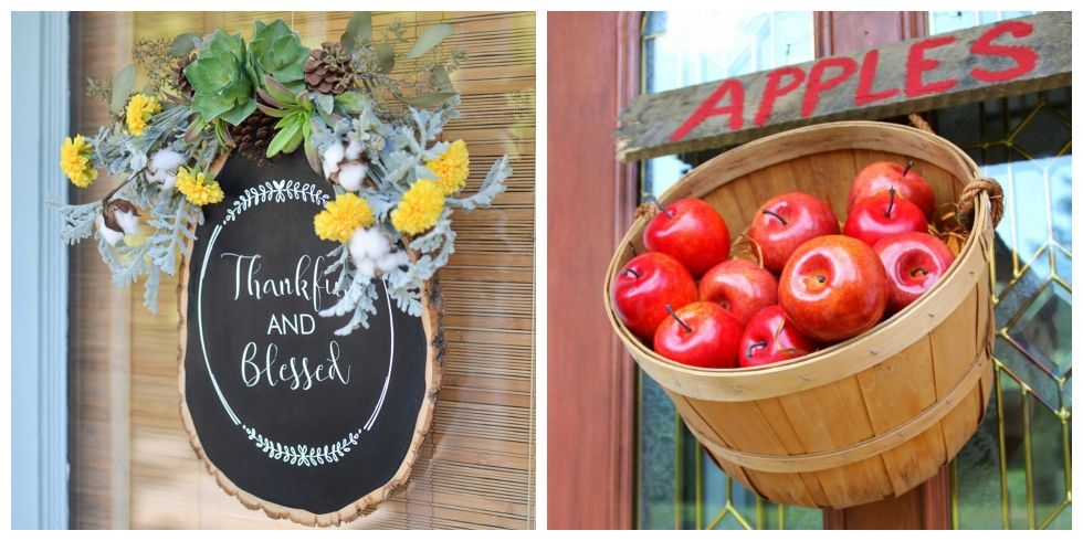 fall door decorations & 20 Fall Door Decorations - Ideas for Decorating Your Front Door for ...