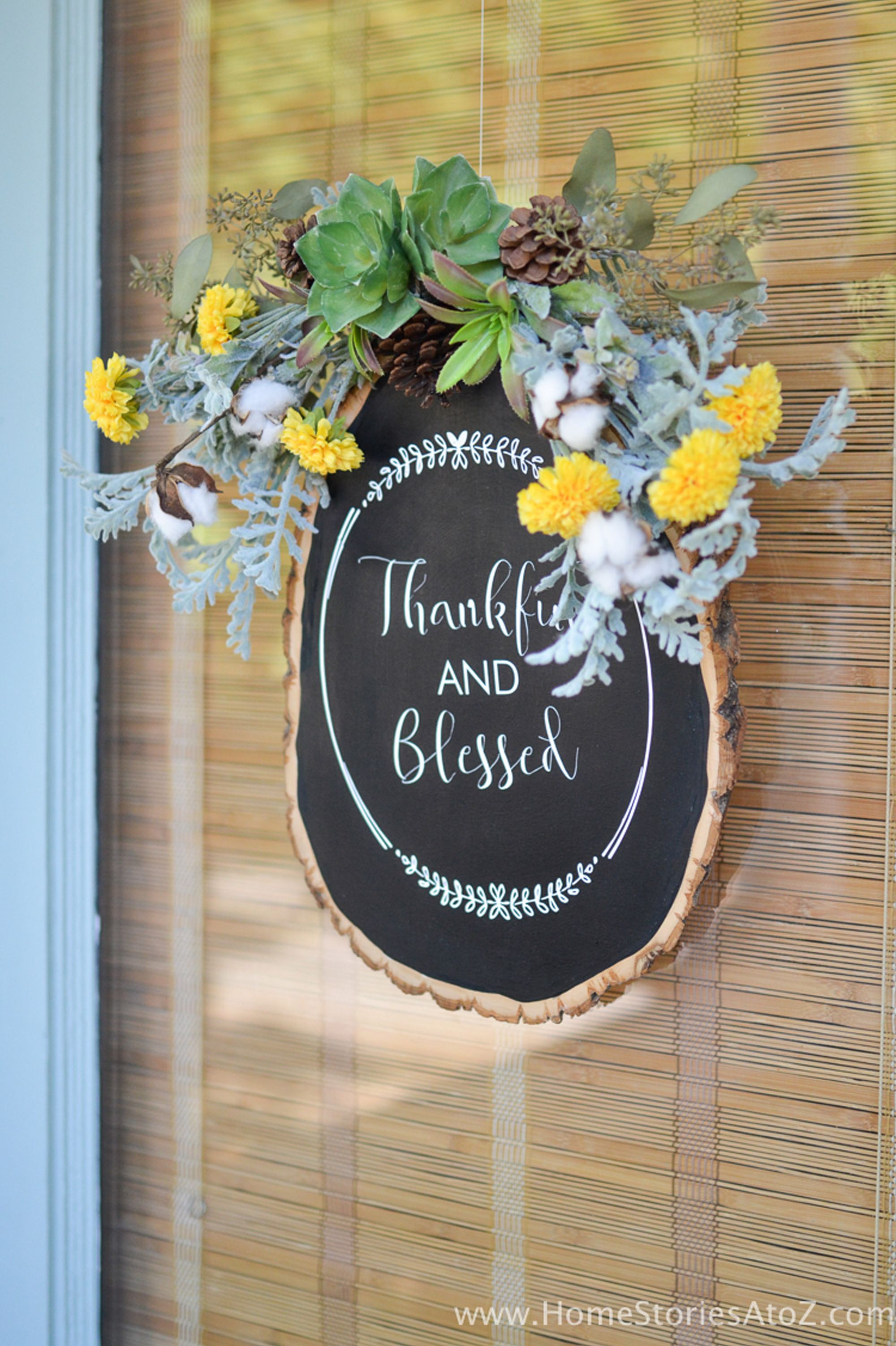 fall door decorations chalkboard