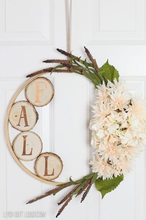 diy fall embroidery hoop