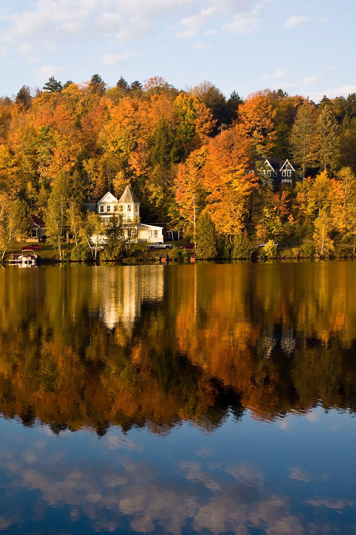 fall foliage saranac lake new york
