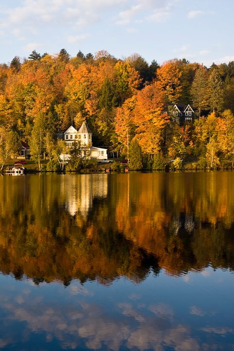 fall foliage saranac lake new york