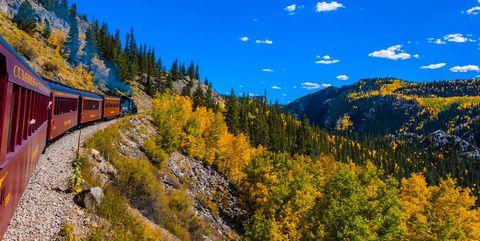 fall foliage train rides - fall leaf peeping train tours