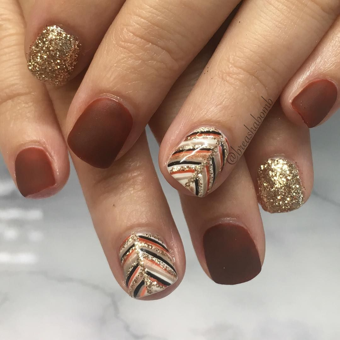 15 Best Thanksgiving Nail Ideas for 2018 , Festive