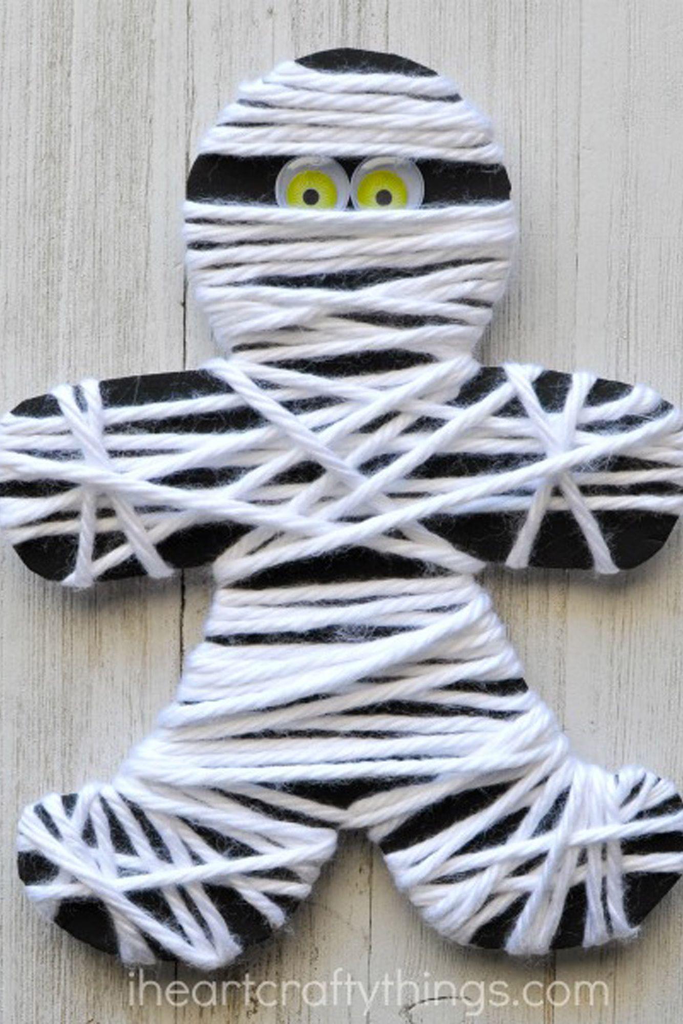 fall kids crafts mummy