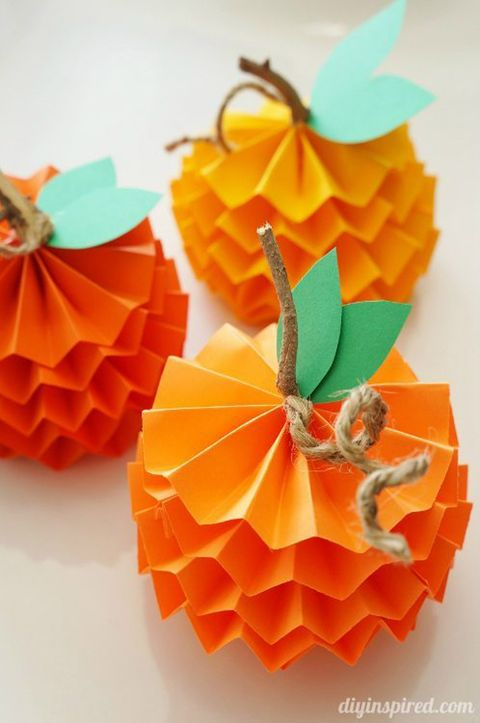 fall kids crafts pumpkin