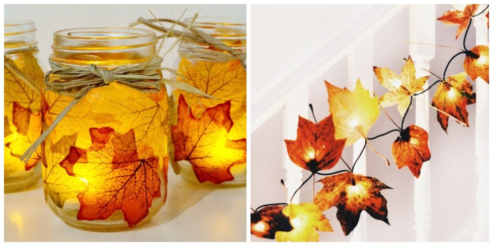30 fall leaf crafts diy decorating projects with leaves for Leaf crafts for adults